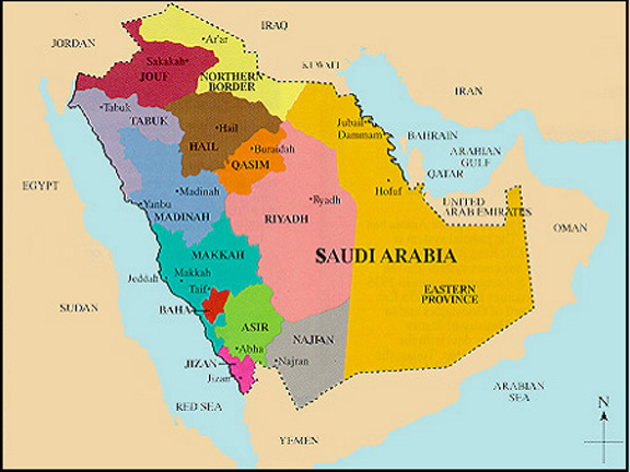 Sarah P Gibson Saudi Arabia Info - Where is saudi arabia on the world map